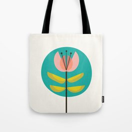 Retro Midcentury Flower Tote Bag