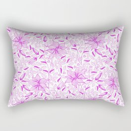 FLOWERS, PETALS AND HEARTS - PURPLE Rectangular Pillow