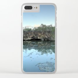 evening lake Clear iPhone Case