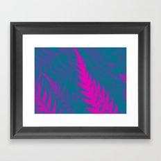 Nature Pattern # 2 - Fern (Blue Pink) Framed Art Print