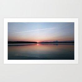 Sunset Trail Art Print