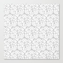 William morris pale grey Canvas Print
