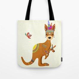 TRIBAL KANGAROO Tote Bag