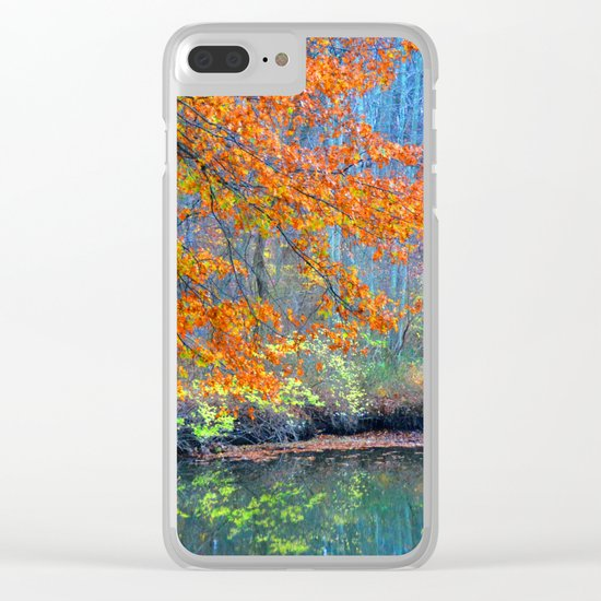 Fall on the River Clear iPhone Case
