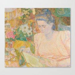 Portrait of Mrs. Marie Jeannette de Lange - Jan Toorop (1900) Canvas Print