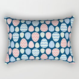 Painted eggs pattern Rectangular Pillow