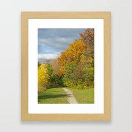 Walking Through Autumn Framed Art Print