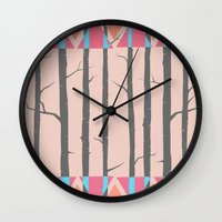 hakuna Wall Clocks featuring Hakuna Matata  by Endless Summer