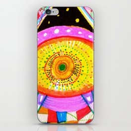 Psychedelic Wrestler iPhone Skin