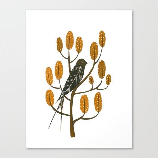 Swallow - golden brown Canvas Print