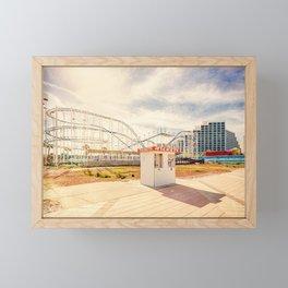 Abandoned Roller Coaster Daytona Florida Framed Mini Art Print
