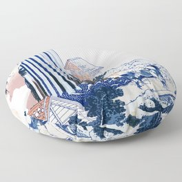 Kiso kaidō ono no bakufu 1833 Floor Pillow