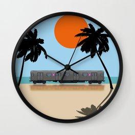 Palm Subway Wall Clock