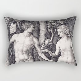 Adam and Eve by Albrecht Dürer Rectangular Pillow