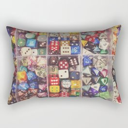 Colorful Dice Rectangular Pillow