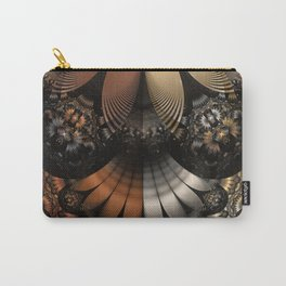 Autumn Fractal Pheasant Feathers in DaVinci Style Carry-All Pouch