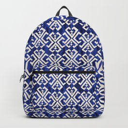 Justina Criss Cross Blue Backpack