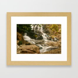 Silky Cascading Waterfall Hong Kong Framed Art Print