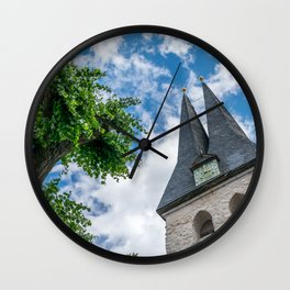 Tree & Bell Tower Wall Clock