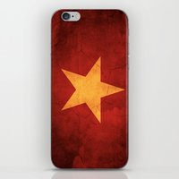 vietnam iPhone & iPod Skins featuring Vietnam Flag by anhnt32