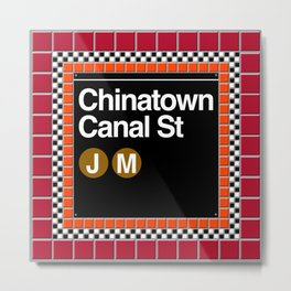 subway chinatown sign Metal Print