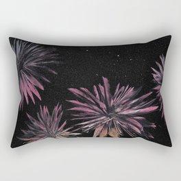 Night Blooming Flowers - Spray Paint Art Rectangular Pillow