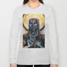 He stands at the door and knocks. Long Sleeve T-shirt