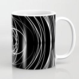 Black White Swirl Coffee Mug