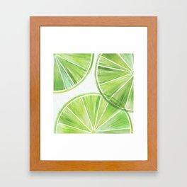 Fresh Lime ~ Summer Citrus Framed Art Print