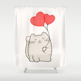 Eli, the love cat Shower Curtain