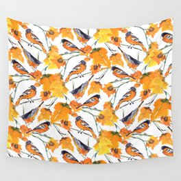 Birds in Autumn Wall Tapestry