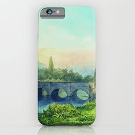 Sevastopol Aqueduct In The Gully Ushakovskaya 1850 By Lev Lagorio   Reproduction   Russian Romantici iPhone Case