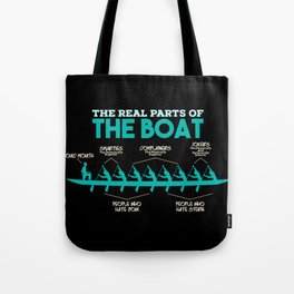 Funny Rowing Gifts - The real parts of the boat Tote Bag