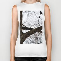 wooden Biker Tanks featuring Wooden Crossing by Julie Maxwell