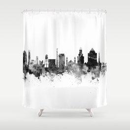 Durham North Carolina Skyline Shower Curtain