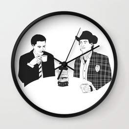 TWIN PEAKS - Dale Cooper and Harry Truman Wall Clock