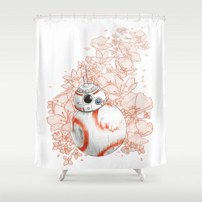 Joyful Robot Shower Curtain