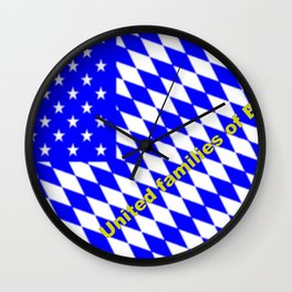 United families of Bavaria ... Wall Clock