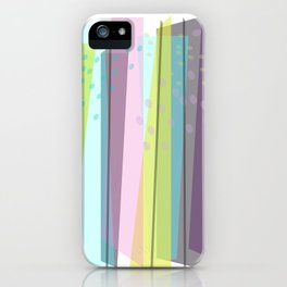 Sunday In The Park  abstract art iPhone Case