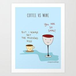 Coffee vs Wine Art Print