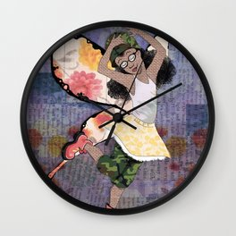 Fighter Faerie Wall Clock