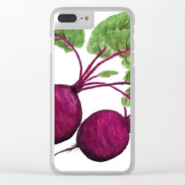 beetroot Clear iPhone Case