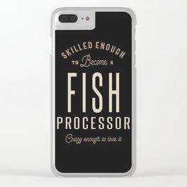 Fish Processor Clear iPhone Case