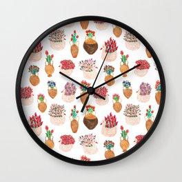 Flower pots pattern Wall Clock