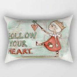 Follow Your Heart - by Diane Duda Rectangular Pillow