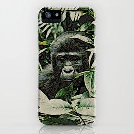 Animal ArtStudio 22516 Gorilla Baby iPhone Case