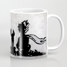 The little prince and the fox - stencil for the LIFE CURRENT WALL series Coffee Mug