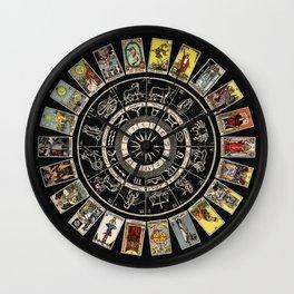 The Major Arcana & The Wheel of the Zodiac Wall Clock