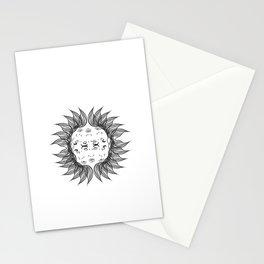 Symmetrical Sun Stationery Cards