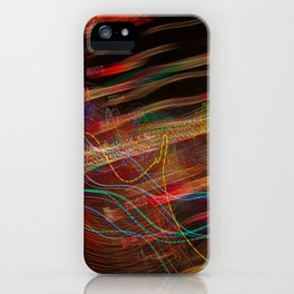 Dancing lights iPhone Case
